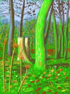 David Hockney - Bosque