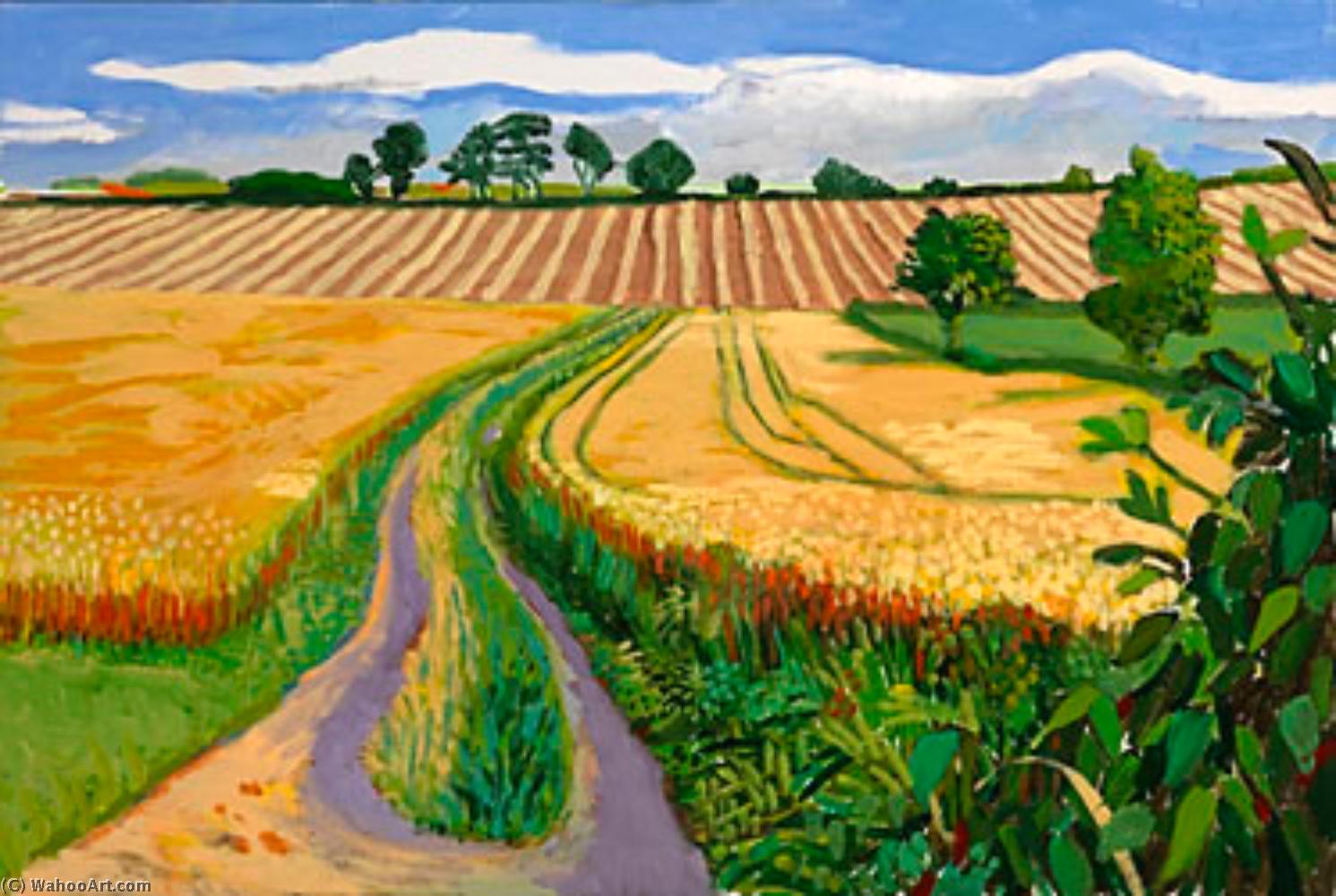 Path through wheat field by david hockney for David hockney painting