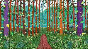 David Hockney - The Arrival of Spring in Woldgate