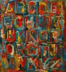 Jasper Johns - Colored alphabet