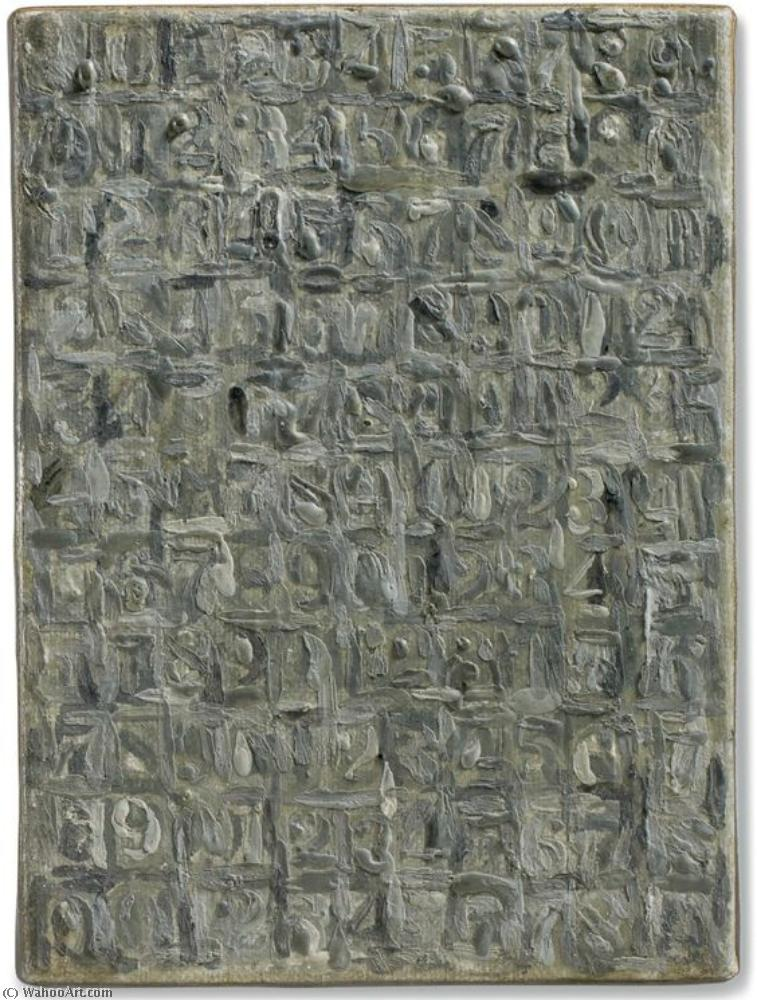 Gray numbers by Jasper Johns