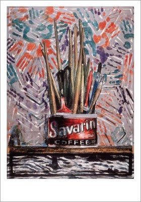 Savarin monotype by Jasper Johns