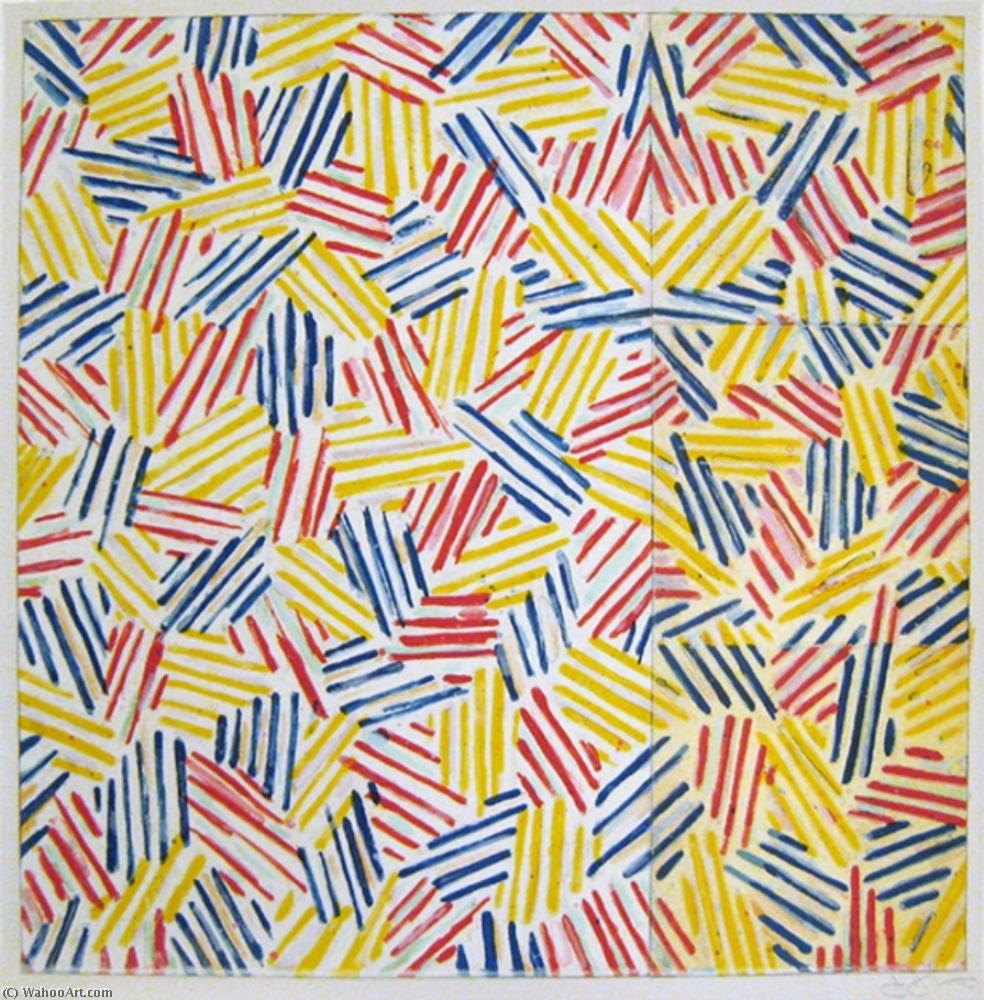 Untitled by Jasper Johns | Oil Painting | WahooArt.com
