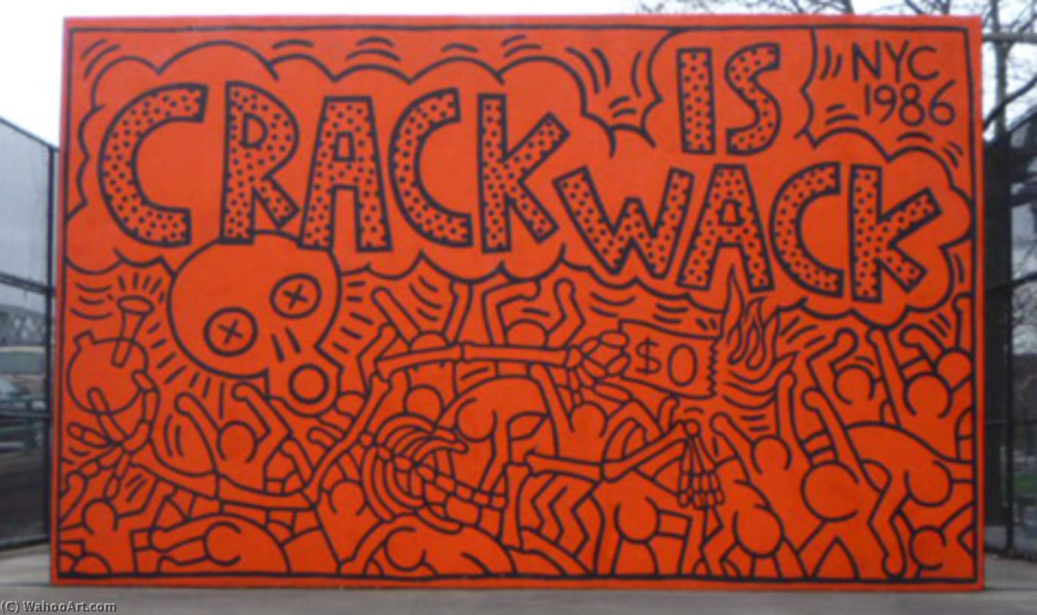 Crack is wack by Keith Haring (1958-1990, United States) | Museum Quality Reproductions | WahooArt.com