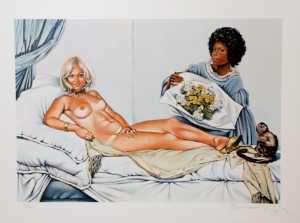 Mel Ramos - Manet's olympia - (Famous paintings reproduction)