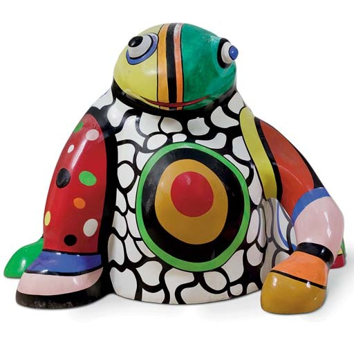 Grenouille vase by Niki De Saint Phalle (1930-2002, France)