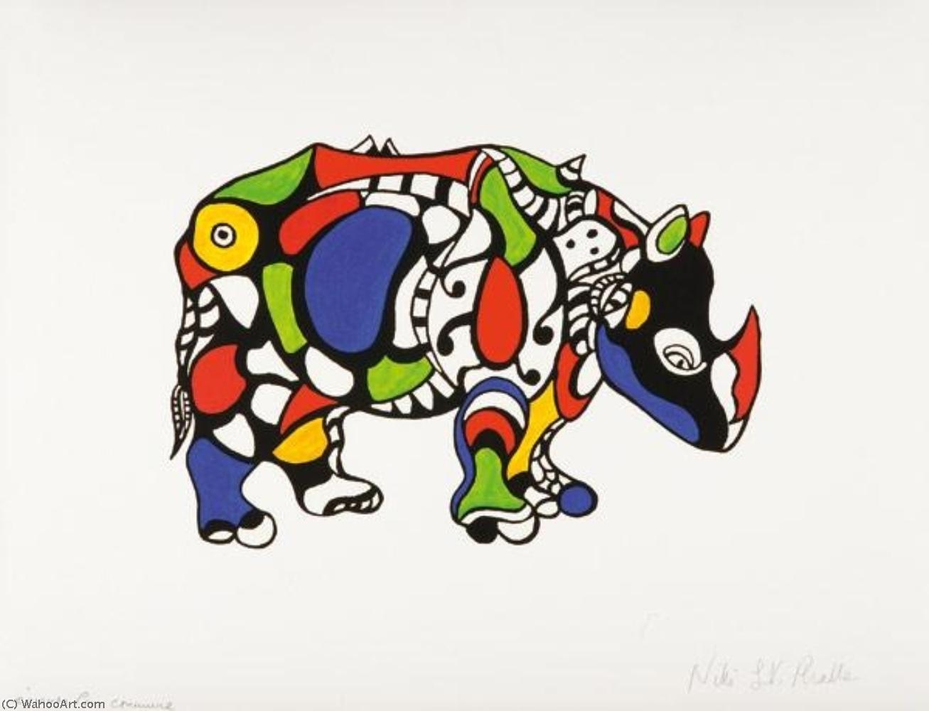 Rhinocéros by Niki De Saint Phalle (1930-2002, France)