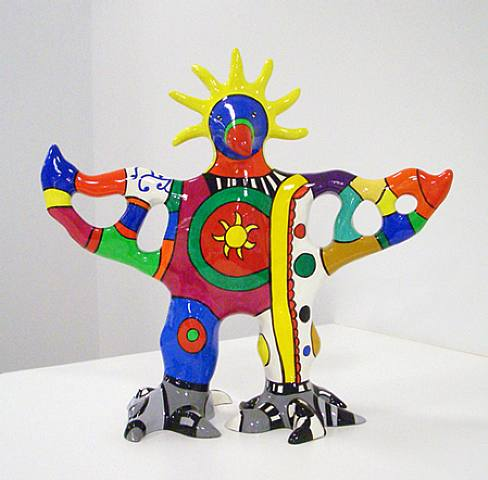 Sun god vase by Niki De Saint Phalle (1930-2002)
