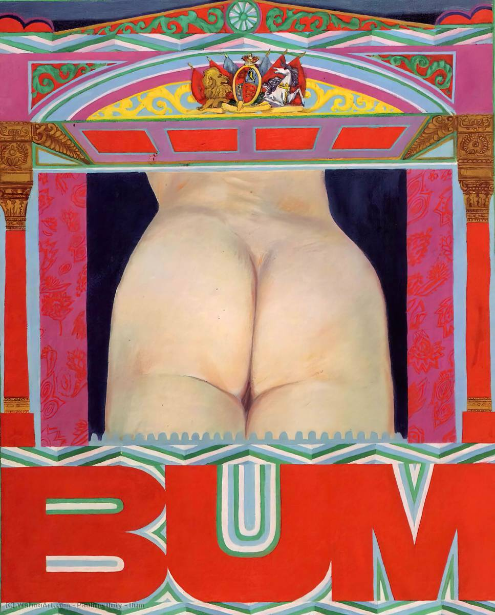 Bum by Pauline Boty (1938-1966) | Famous Paintings Reproductions | WahooArt.com
