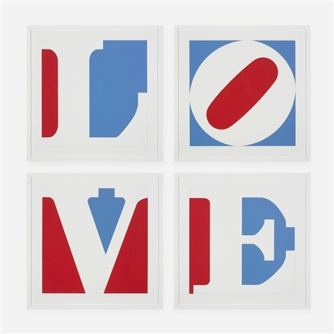Four panel love by Robert Indiana |  | WahooArt.com
