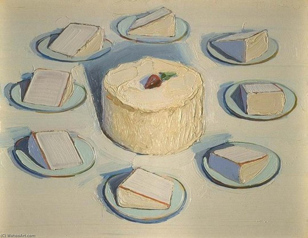 Cake painting by Wayne Thiebaud | Museum Quality Reproductions | WahooArt.com