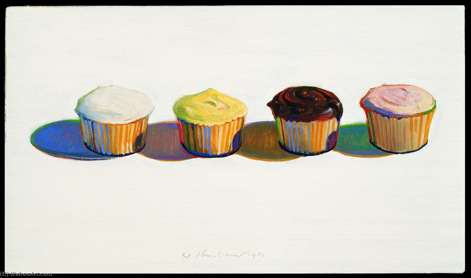 Cupcake painting by Wayne Thiebaud | Museum Quality Reproductions | WahooArt.com
