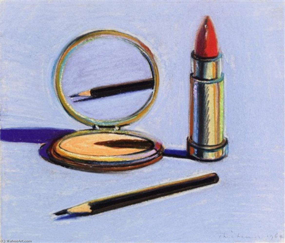 Eyebrow pencil by Wayne Thiebaud | Famous Paintings Reproductions | WahooArt.com