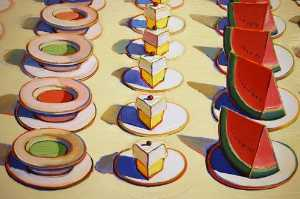 Wayne Thiebaud - Lunch table