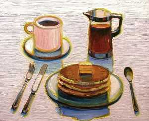Wayne Thiebaud - Pancake breakfast