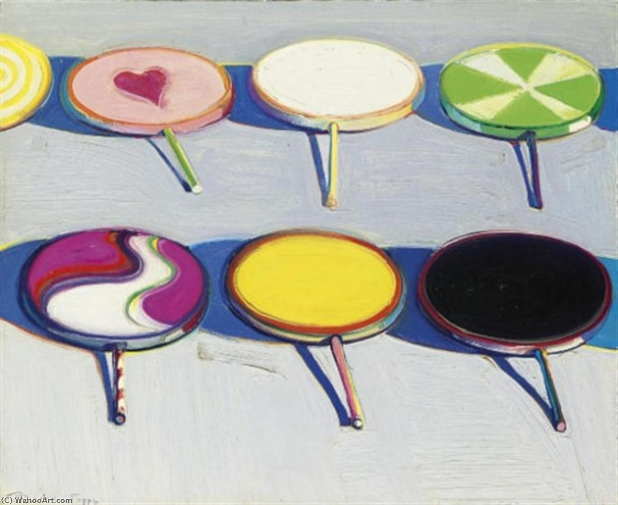 Seven suckers by Wayne Thiebaud | Famous Paintings Reproductions | WahooArt.com