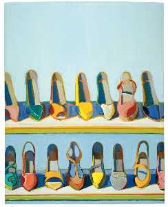 Wayne Thiebaud - Shoe rows