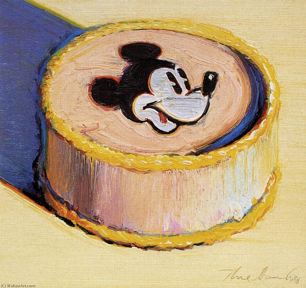 Yellow mickey mouse cake by Wayne Thiebaud | Famous Paintings Reproductions | WahooArt.com