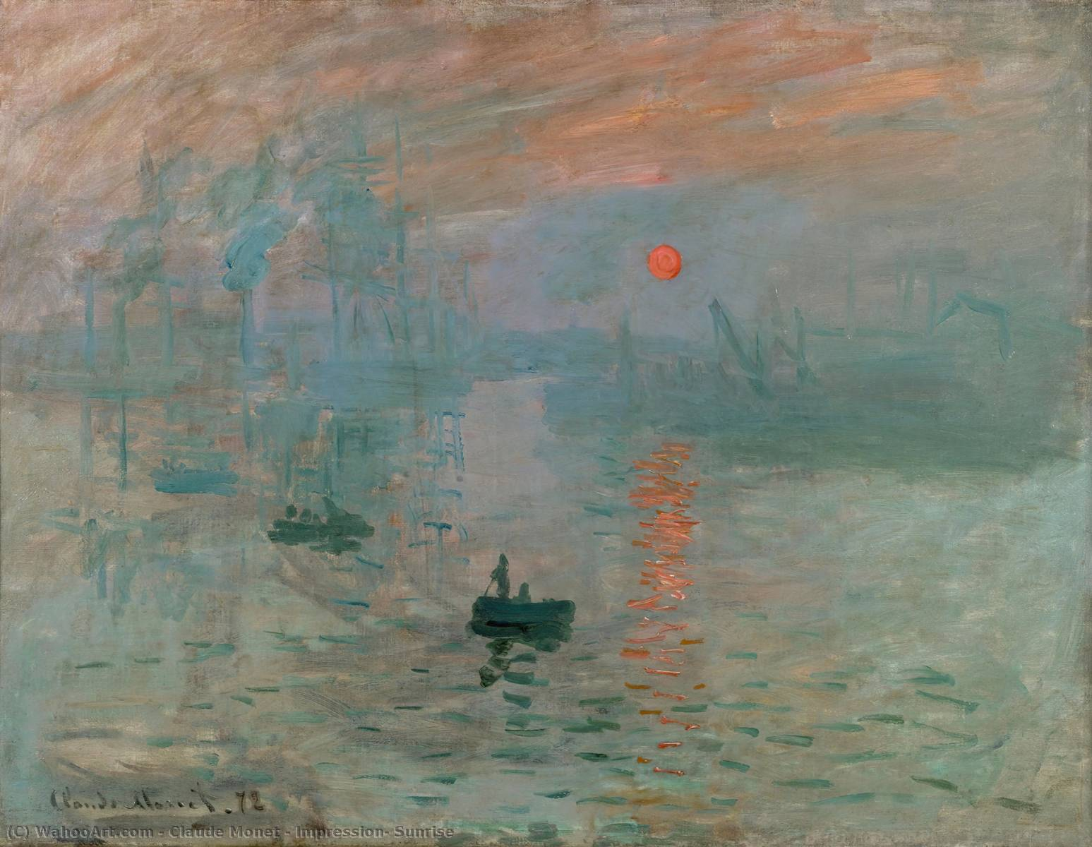Impression, Sunrise, Oil by Claude Monet (1840-1926, France)