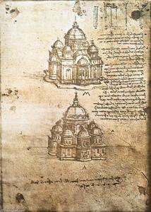 Leonardo Da Vinci - Studies of central plan buildings