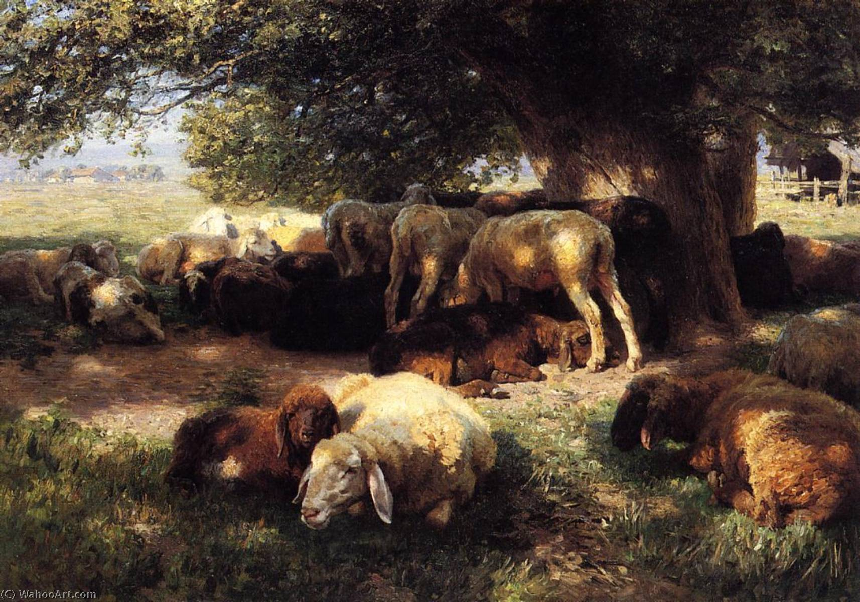 Midday Rest by Herman Hartwich | Museum Quality Reproductions | WahooArt.com