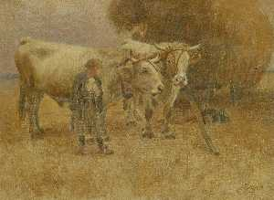 Herman Hartwich - Sketch for The Harvesters