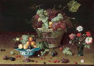 Isaak Soreau - Still Life with Fruit and Flowers
