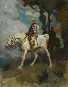 Charles Wellington Furse - General Sir Frederick Sleigh Roberts on His Horse 'Vonovel'
