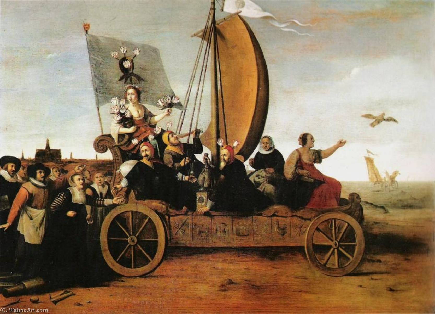 Flora`s Malle wagen, 1640 by Hendrik Gerritsz Pot (1580-1657) | Museum Quality Reproductions | WahooArt.com