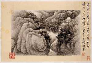 Gong Xian - 清 龔賢 自題山水十六開 冊 Ink Landscapes with Poems