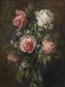 Knut Ekwall - Floral still life with roses