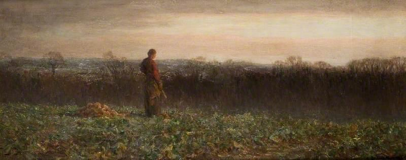 Evening at Warham, Herefordshire, 1913 by Brian Hatton | Museum Quality Reproductions | WahooArt.com