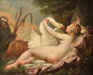 Hugues Taraval - Leda and the Swan