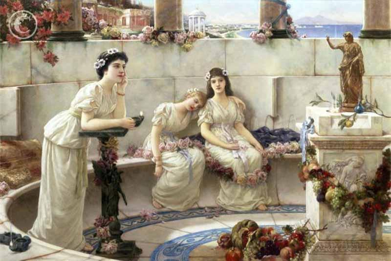 Neapolitan Maidens by Emile Eisman Semenowsky (1859-1911) | Oil Painting | WahooArt.com