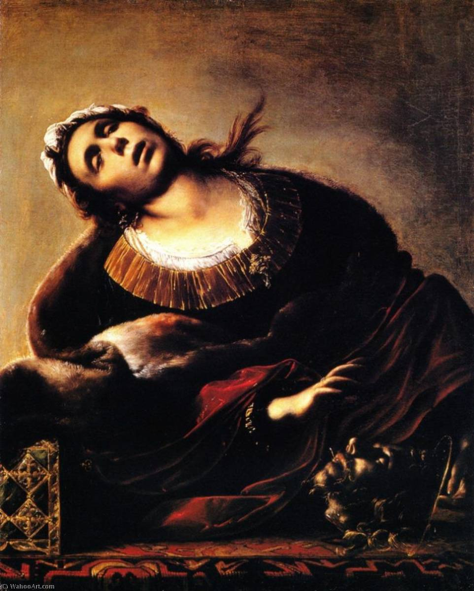 Herodias with the head of saint John Baptist, 1635 by Francesco Del Cairo (1607-1665) | Museum Quality Reproductions | WahooArt.com