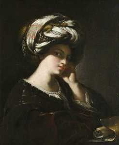 Francesco Del Cairo - Girl with a Large Turban (A Sibyl)