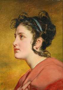 Friedrich Ritter Von Amerling - Portrait of a young Girl, possibly Elise Kreuzberger