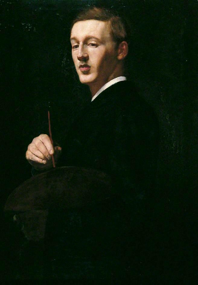 Ernest Sichel, Oil On Canvas by William Strang (1859-1921)