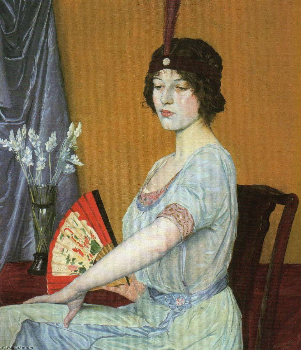 The Japanese Fan, 1910 by William Strang (1859-1921)