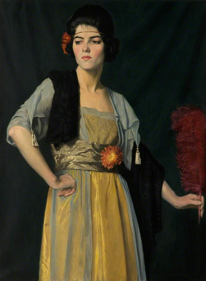 The Feather Fan by William Strang (1859-1921) | Museum Quality Reproductions | WahooArt.com