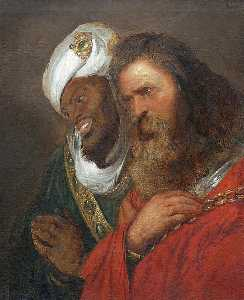 Jan Andrea Lievens - Guy of Lusignan and Saladin