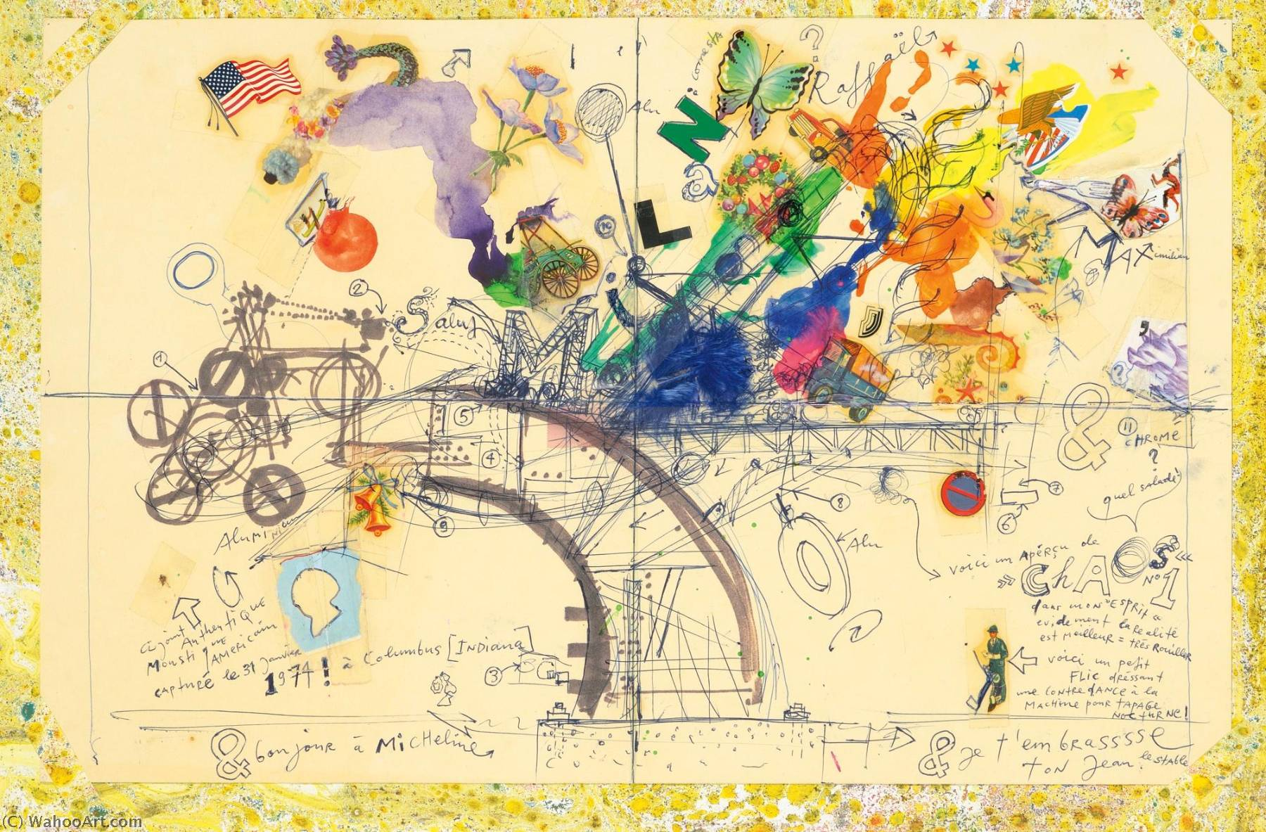 Chaos No. 1, 1974 by Jean Tinguely (1925-1991, Switzerland) | Museum Quality Reproductions | WahooArt.com