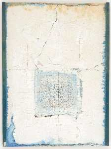 Joseph Cornell - Untitled (light blue paint in rectangular area)