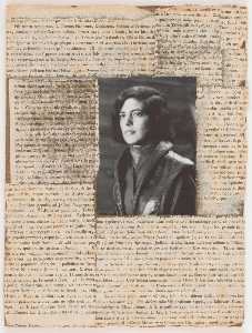 Joseph Cornell - Untitled (book jacket photograph of Susan Sontag)