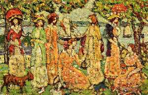 Maurice Brazil Prendergast - The Idlers