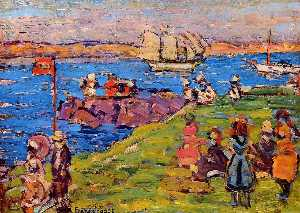 Maurice Brazil Prendergast - Harbor, Afternoon