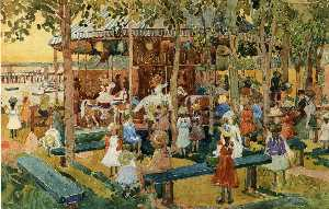 Maurice Brazil Prendergast - The Flying Horses