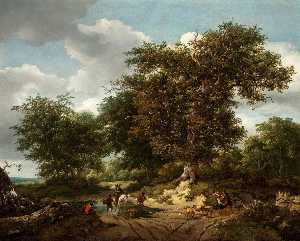 Nicolaes Berchem - The Great Oak