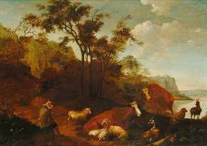 Nicolaes Berchem - Landscape with Animals