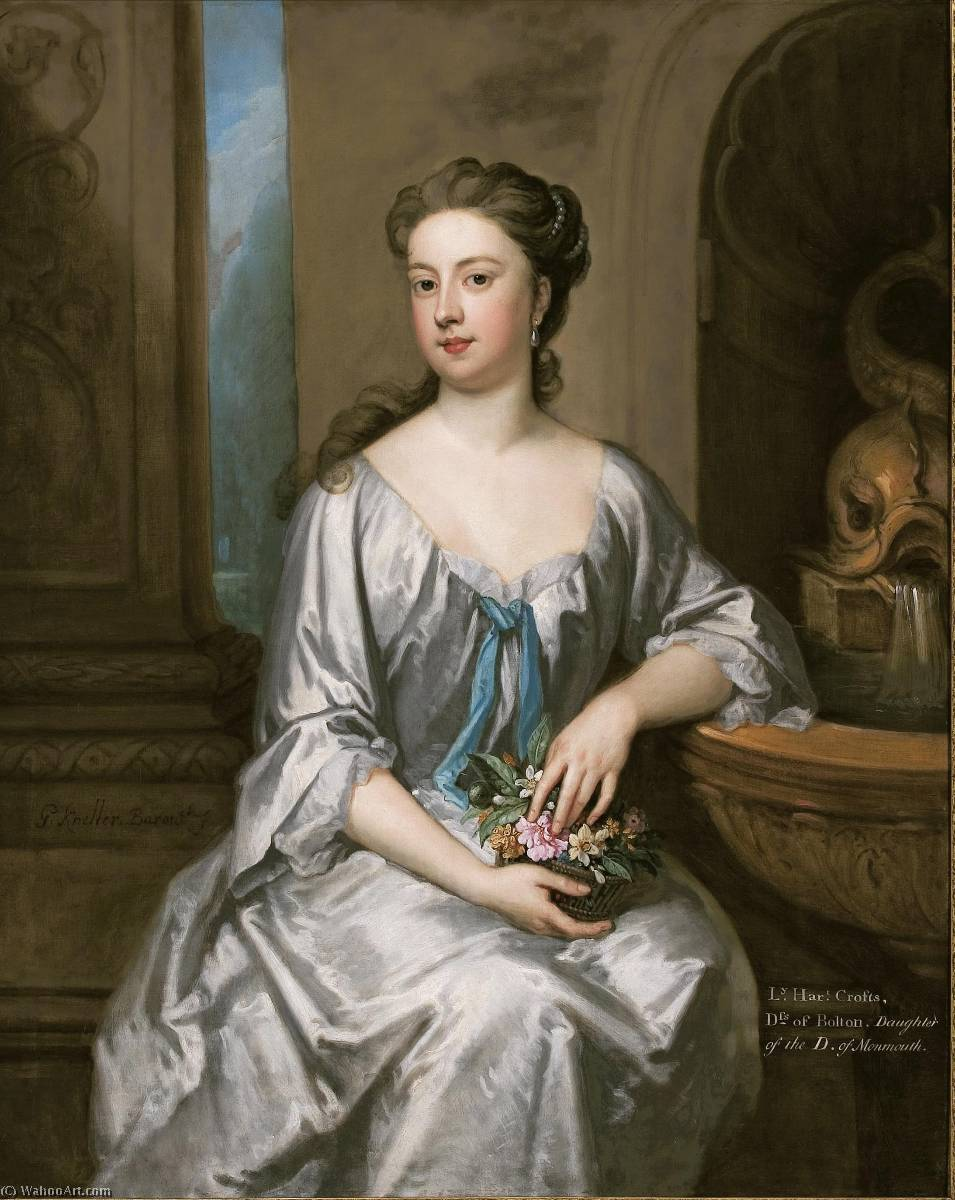 Lady Henrietta Crofts, Duchess of Bolton, 1715 by Godfrey Kneller (1646-1723, Italy) | Famous Paintings Reproductions | WahooArt.com
